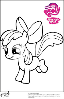 mlp apple bloom coloring pages to print