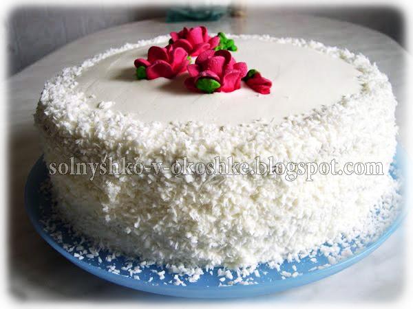 Бисквитный торт с клубникой и киви