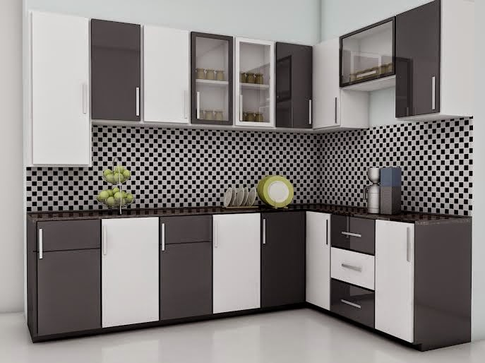 Kerala style carpenter works and designs colorful modular for Kitchen designs modular