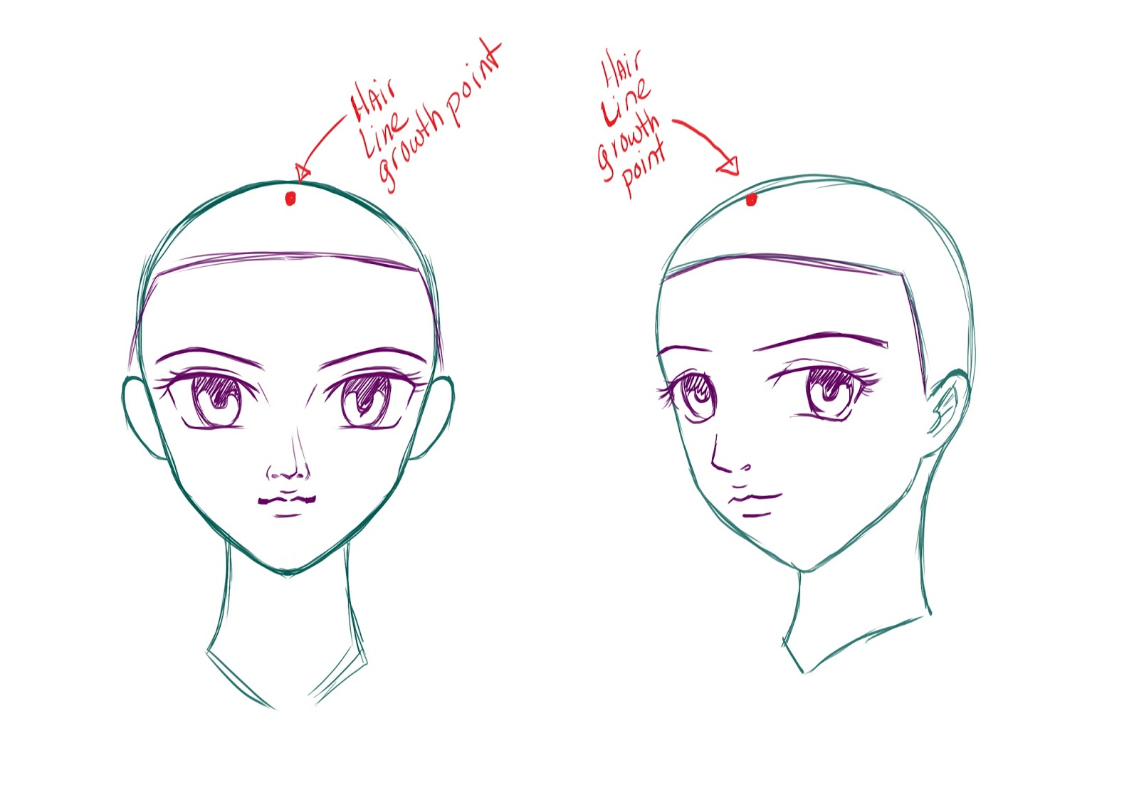 Drawing Hairlines : How to draw anime manga hair central