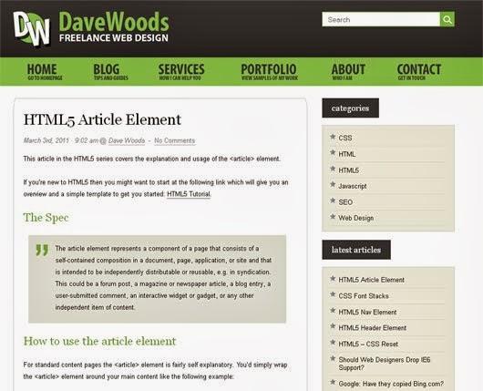 HTML5 Article Element