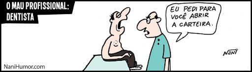 Tiras: O mau profissional. dentista