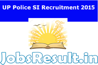UP Police SI Recruitment 2015