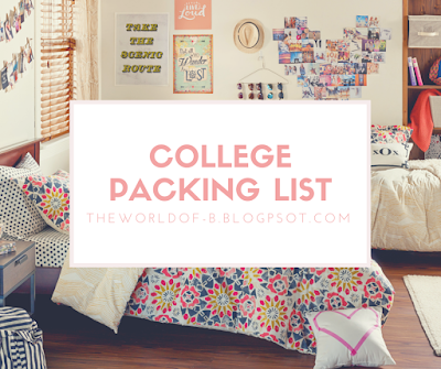 College | My Packing List