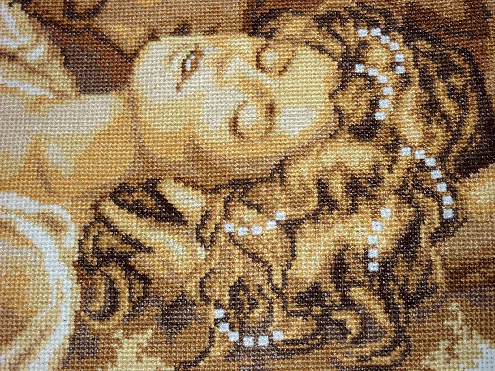 Вышитая картина «Поцелуй» « Мир моих увлечений