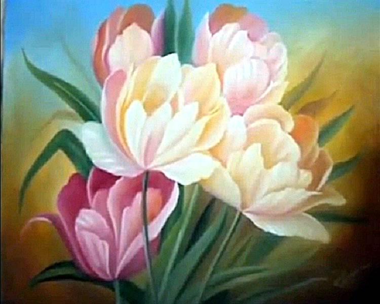 Um s minuto 96 pintura em tela leo como pintar - Como pintar sobre tela ...