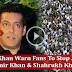 Salman Khan WARNS Fans To Stop Abusing Aamir Khan & Shahrukh Khan