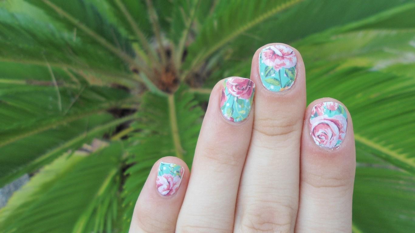 Gepe-nails: FLORES VINTAGE. Colaboración con BPS.