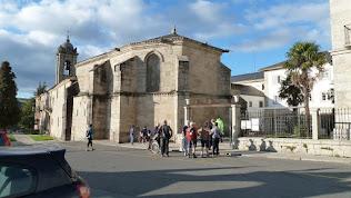 onderweg voor stempelkaart in Monasterio de Magdalena