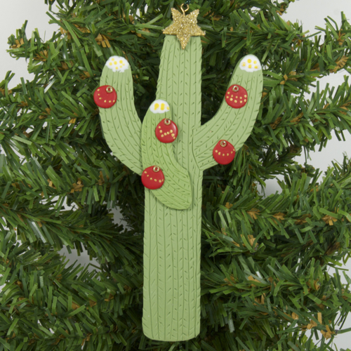 melody o 39 beau designs arizona saguaro cactus decorated saguaro christmas ornaments and behind. Black Bedroom Furniture Sets. Home Design Ideas