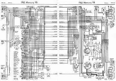 proa 1963 mercury v8 meteor complete wiring diagram