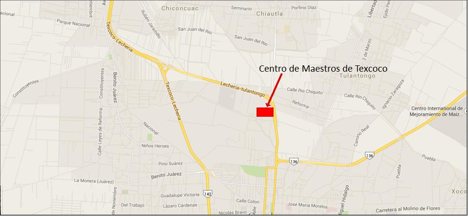 UBICACIÓN DEL CENTRO DE MAESTROS DE TEXCOCO
