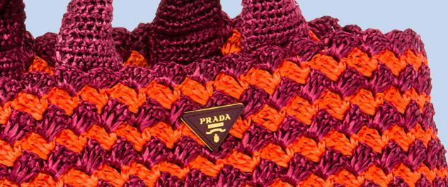 knockoff prada bags - CROCHETED PRADA TOTE: My to die for
