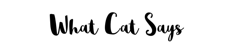 Blog - What Cat Says