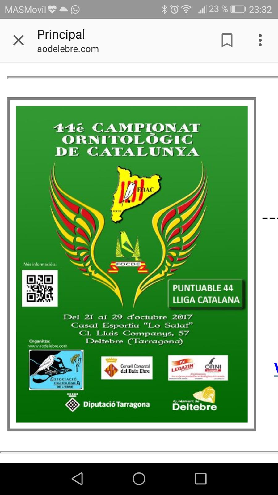 44 Campeonato ornit. Catalunya