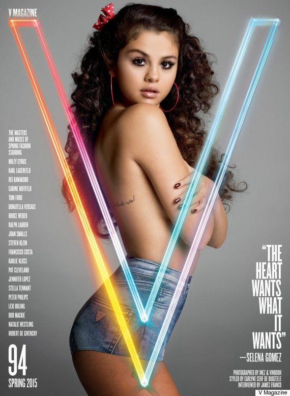Selena Gomez Poses Topless For V Magazine