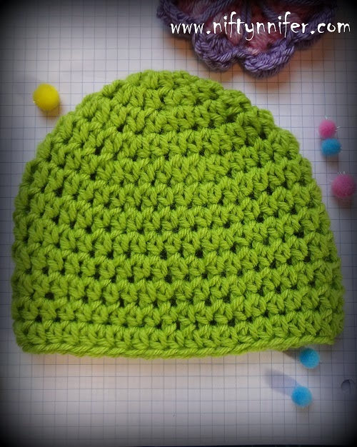 Crocheting Hdc : Free Crochet Pattern For Half Double Crochet HDC Beanie All Sizes By ...