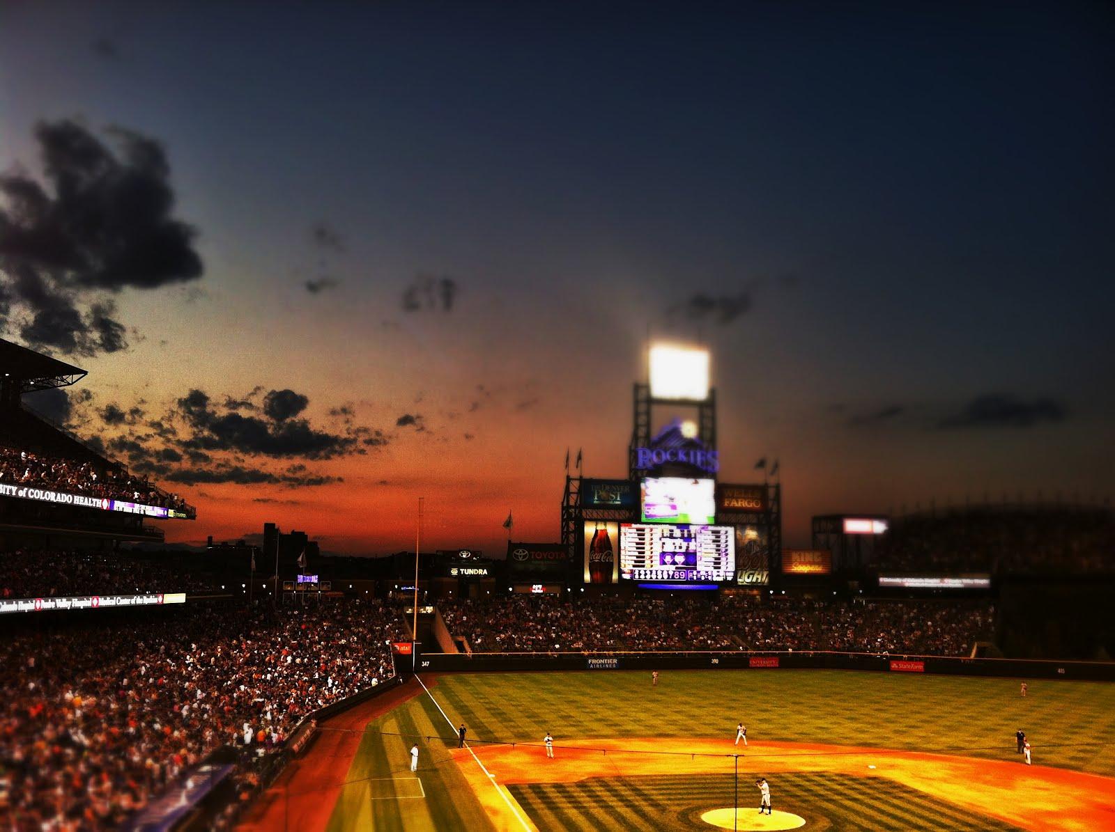 Baseball Field At Night