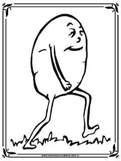 mewarnai gambar kartun kentang berjalan