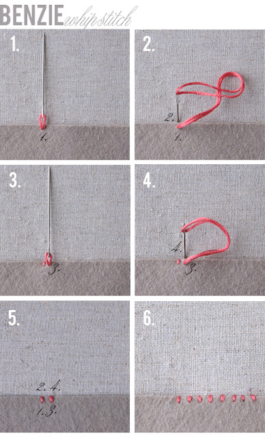 whipstitch embroidery tutorial