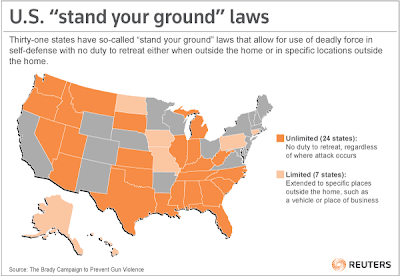 the stand your ground law The criminalization of black people and the use of white vigilantism as a weapon of violence against us are by no means a new concept in america after all.