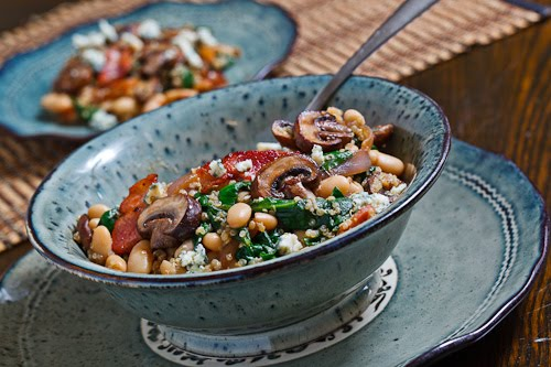 Quinoa With Caramelized Crimini Mushrooms, Soy Sauce, And Ginger ...