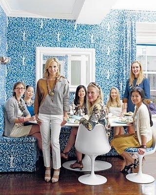 Aerin Lauderu0027s Kitchen Nook Via Elle Decor