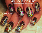 . nails, new york salon nails, trendy new york nails, bling new year nail, .