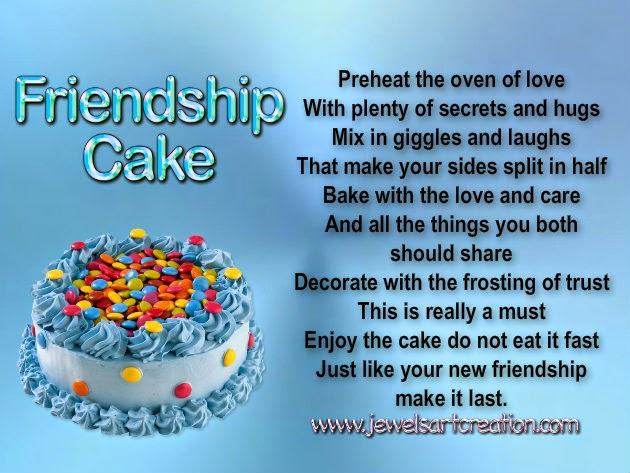 Cake Images With Name Kavita : Friendship Cake ~ Jewels Art Creation