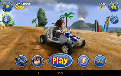 Beach buggy blitz the racing game: The home screen