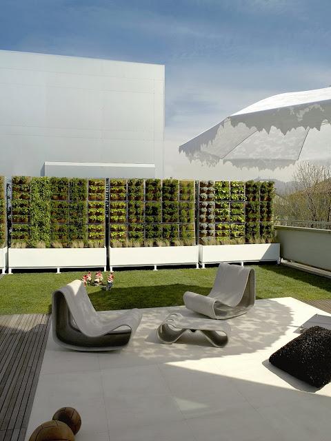 Bepflanzbare Wände - bester schutz gegen neugierige Nachbarn