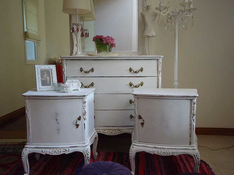 Vintouch muebles reciclados pintados a mano comoda Muebles antiguos pintados a mano
