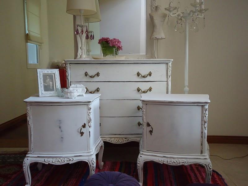 Vintouch muebles reciclados pintados a mano comoda for Muebles luis xv segunda mano