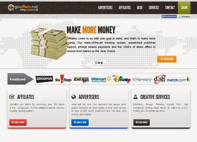 Gooffers Affiliate Network Homepage