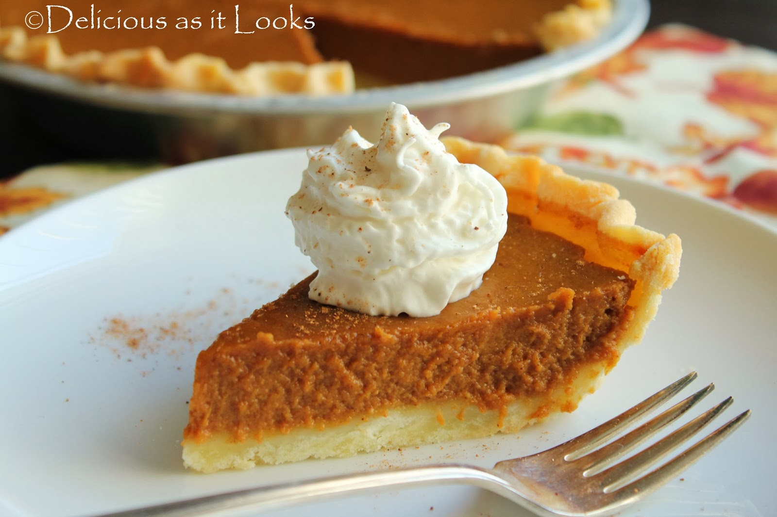 Delicious as it Looks: Low-FODMAP Pumpkin Pie
