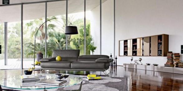 Ideas de decoraci n de habitaciones de lujo c mo arreglar los muebles en una peque a sala de - Stoelen rock en bobois ...