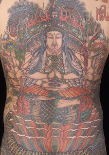 Asian Themed Full Back Tattoo Design