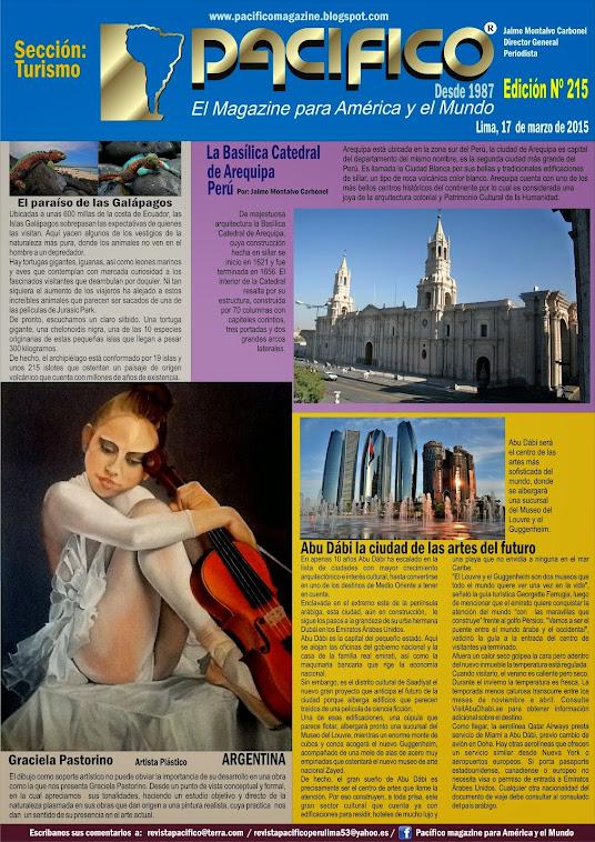 Revista Pacífico Nº 215 Turismo