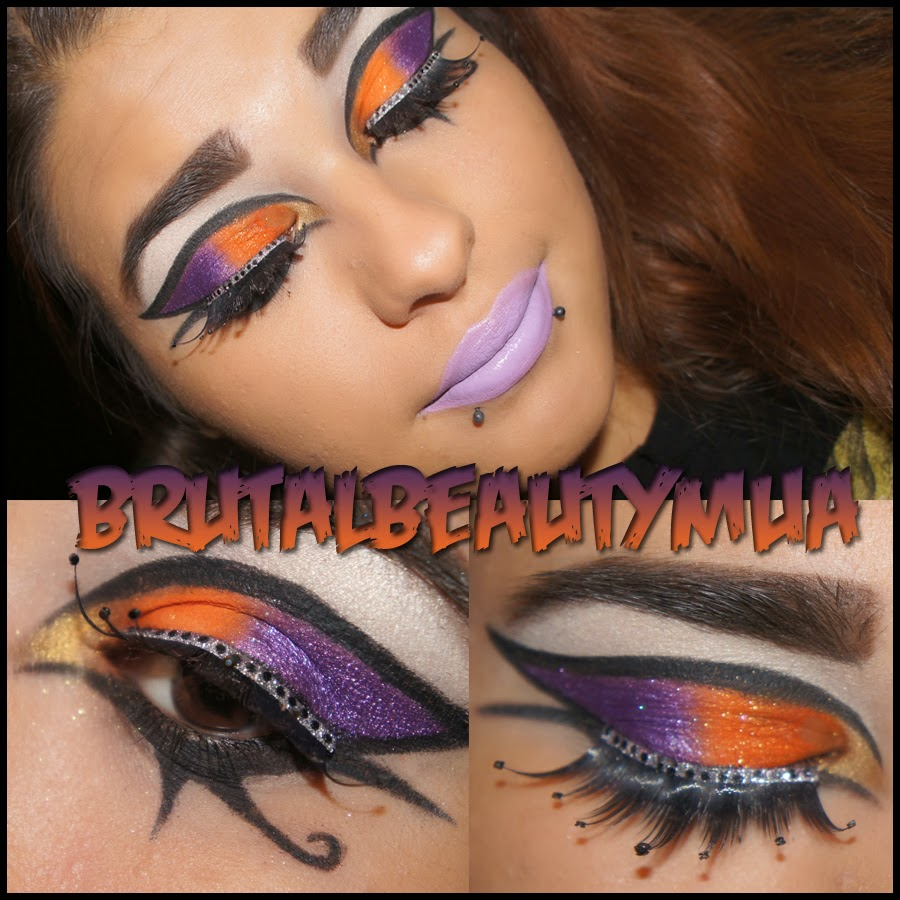 brutal beauty dark horse inspired makeup with sugarpill