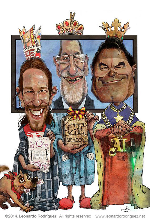 <<<La mejor cara de...>>> Pablo-iglesias-mariano-rajoy-artur-mas-caricaturas-famosos-leonardo-rodriguez