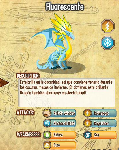 imagen del dragon fluorescente y sus caracteristicas