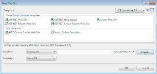 New Web Service Visual Studio