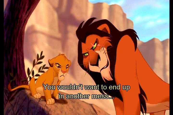 Scar misleading SImba The Lion King 1994 animatedfilmreviews.filminspector.com