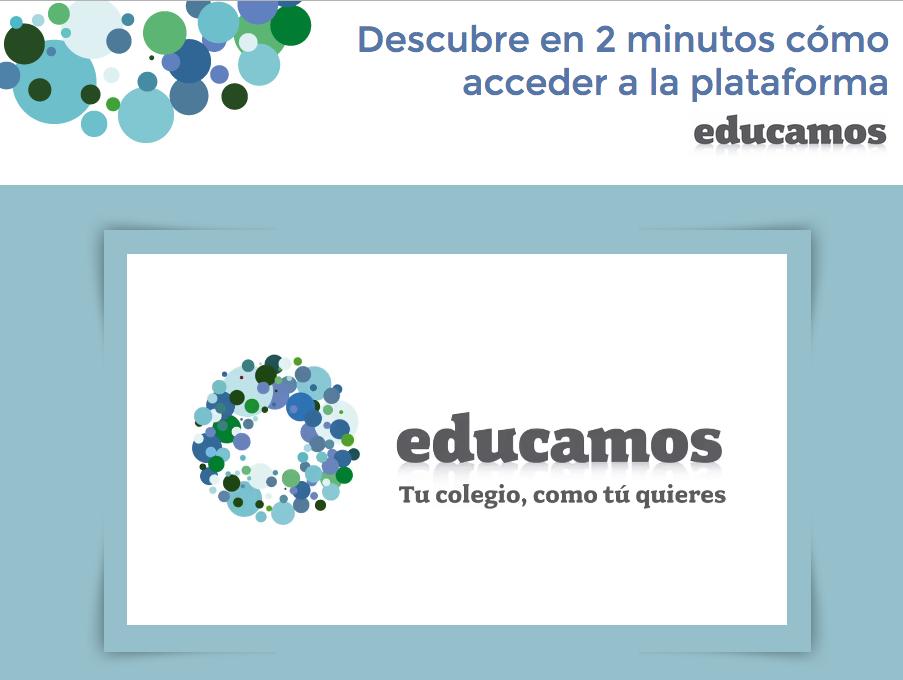 Vídeo para realizar el acceso a EDUCAMOS