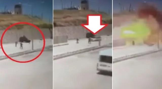 ΒΙΝΤΕΟ ΣΟΚ: Αυτοκίνητο βόμβα ανατινάζεται πάνω σε Τούρκους χωροφύλακες (βίντεο)