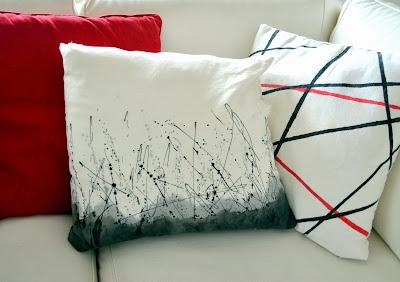 cómo decorar textil con salpicaduras