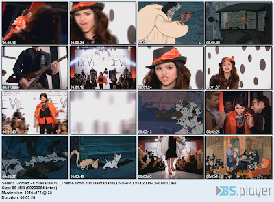 Selena Gomez Cruella  on Selena Gomez   Cruella De Vil  Theme From 101 Dalmatians  Dvdrip 2008