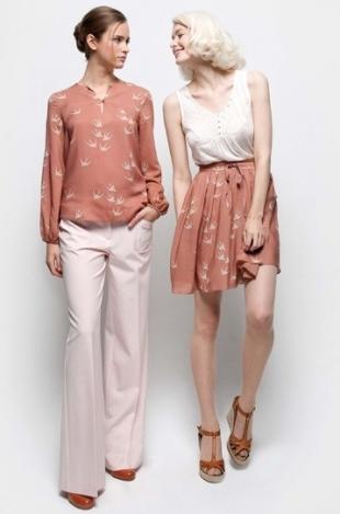 Naf naf блузка красная с фламинго коллекция 2017