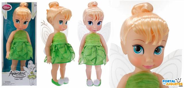 muñeca campanilla coleccion disney animators caja posado