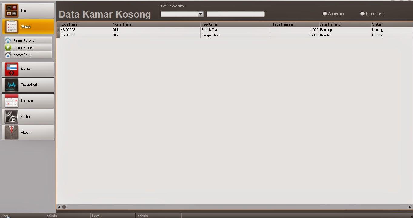 Tutorial delphi dan database aplikasi reservasi hotel baditri Gallery